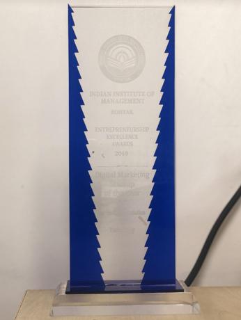 Entrepreneurship Excellence Award, IIM Rohatak